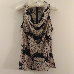 Banana Republic sleeveless floral blouse size 6
